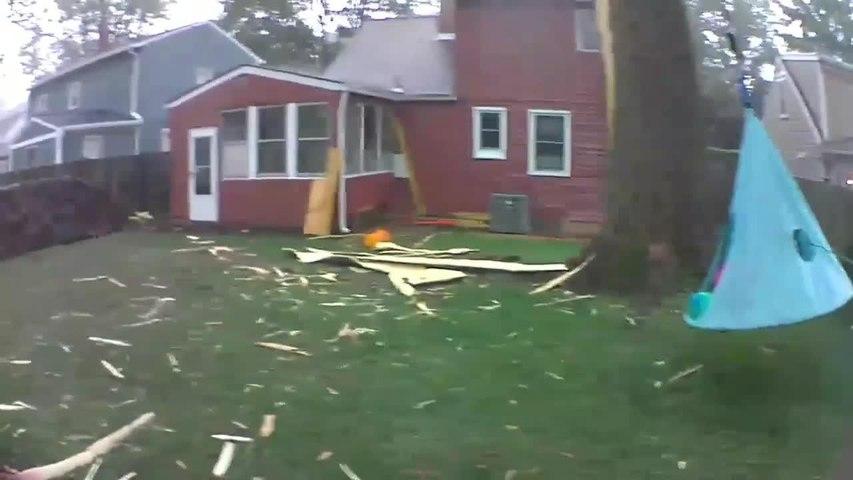 Lightning Strike Shatters Tree into Splinters