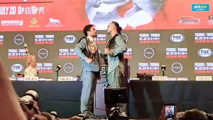 Pacquiao, Thurman face off