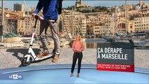 """Marseille: Des plongeurs bénévoles ramassent les centaines de trottinettes jetées dans la mer, """"il y en a qui s'amusent à les envoyer le plus loin possible"""""""