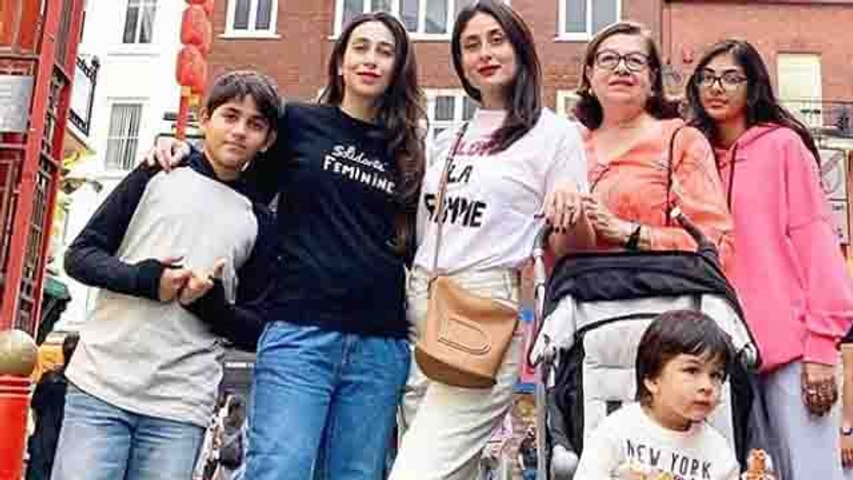Karisma Kapoor & Kareena Kapoor Khan enjoy holiday in London with family | FilmIBeat