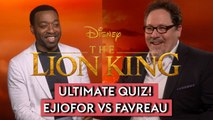 The Lion King 2019: Jon Favreau and Chiwetel Ejiofor test their knowledge of the Disney classic!