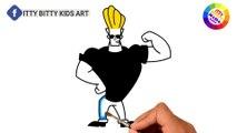 Coloriage Johnny   Peinture pour les tout-petits et dessin pour les enfants   Itty Bitty Enfants Art