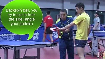 卓球 China Team Training for Rio LGL teaches Xu Xin loop short balls