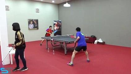 卓球  Jun Mizutani and Chuang Chih Yuan - Relentless Training - T2!