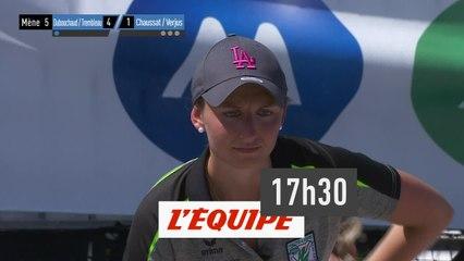 Championnat de France - doublette mixte - deuxième demi-finale - Pétanque - Replay
