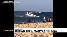 Video   ABD'de motor arızası yaşayan tek kişilik uçak denize zorunlu iniş yaptı