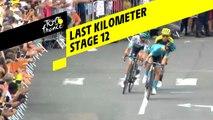 Last kilometer / Flamme rouge - Étape 12 / Stage 12 - Tour de France 2019