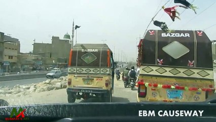 Roads of Karachi Pakistan    Korangi to Aisha Manzil Route 1   Explore with Mubarak's Art Episode 19