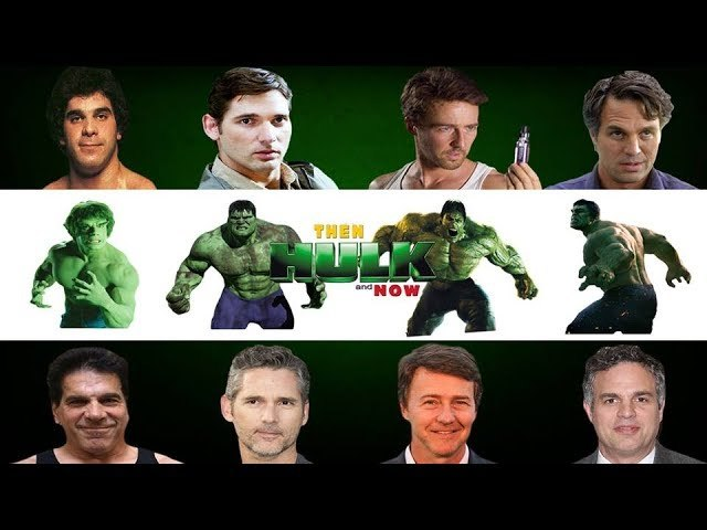 All Hulk then and now