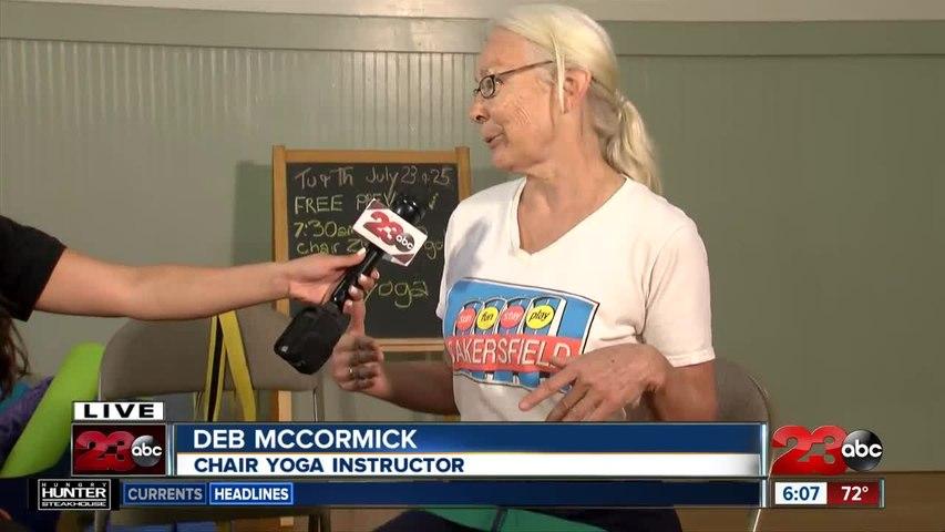 Deb McCormick explains Chair Yoga