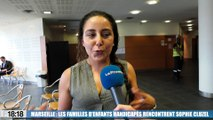 Handicap : la secrétaire d'État Sophie Cluzel à la rencontre des familles à Marseille