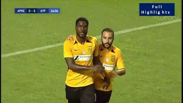 1-0 Dimitrios Goutas UNBELIEVABLE Own Goal - Aris vs Atromitos - Full Replay 18.07.2019