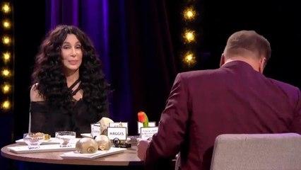 Cher eats cow's tongue