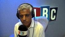 LBC Sadiq Khan links in London violence to middle class cocaine use