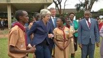 Theresa May dances again in Kenya