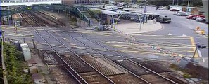 Motorist smashes into level crossing barriers