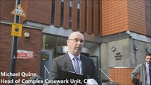 West Yorkshire Police make a statement outside Leeds Crown Court