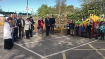 Marilyn Brown says a prayer and blesses the new park
