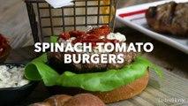 Spinach Tomato Burgers