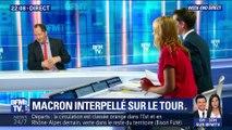 Tour de France: Emmanuel Macron retourne au contact (2/2)