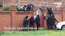Russia raids rehab centre where addicts handcuffed to beds