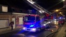 Incendie - rue du Roitelet, Mouscron.
