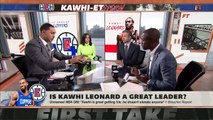Kawhi is a great player, but is he a great leader as well _ First Take