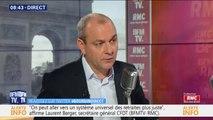 """Réforme des retraites: Laurent Berger juge qu'il """"faut réfléchir à des systèmes de départs anticipés en retraite"""""""