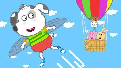 Funny Cartoon Dog | I want to fly | Dalmatian Puppy