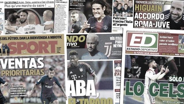 Pourquoi Neymar est séduit par l'option Juventus, accord Juve-Roma pour Higuain