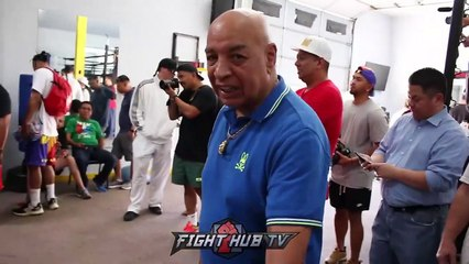 """MANNY PACQUIAO ASKS JOE CORTEZ IF HE CAN USE """"LEGAL SUCKER PUNCH"""" ON KEITH THURMAN part 1/2"""