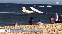 Etats-Unis: Les images impressionnantes de l'amerrissage forcé d'un petit avion sur une plage du Maryland