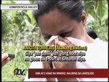 Mom grieves for husband, kids buried by Compostela landslide