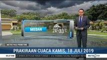 Prakiraan Cuaca: Kamis, 18 Juli 2019