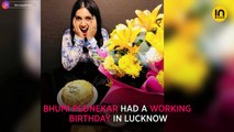 Bhumi Pednekar celebrates birthday in Lucknow, Ayushmann Khurrana joins in