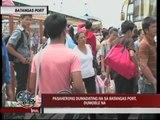 Thousands flock to Batangas port