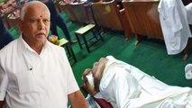 BJP Leaders staged night long dharna, sleeps on the floor in Vidhana Soudha