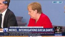 Tremblements d'Angela Merkel: la chancelière allemande a assuré qu'elle allait bien lors d'une conférence de presse
