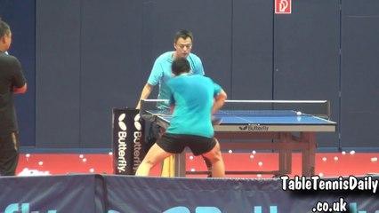 卓球  Ma Long Backhand - Multi Ball With Liu Guoliang Talk!