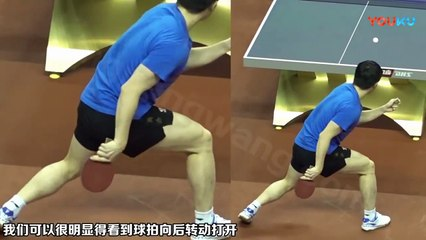 卓球  Fan Zhendong Forehand Top Spin HD 720p
