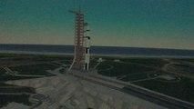 Le décollage d'Apollo XI reconstitué par le planétarium de Rennes