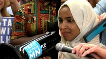Ilhan Omar returns to Minneapolis to a different kind of chant