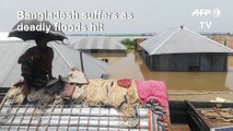 Heavy flooding across Bangladesh as monsoon rains pound south Asia