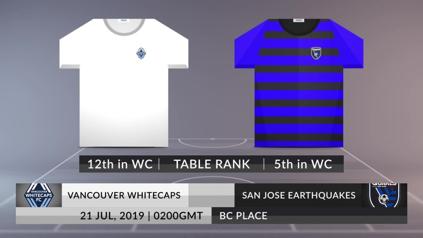 Match Preview: Vancouver Whitecaps vs San Jose Earthquakes on 21/07/2019