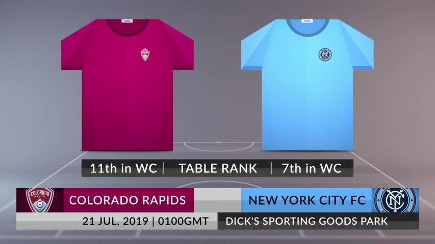 Match Preview: Colorado Rapids vs New York City FC on 21/07/2019