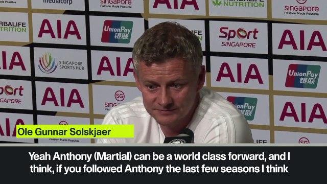 (Subtitled) 'I expect Martial and Rashford to be even better than last season' Solskjaer
