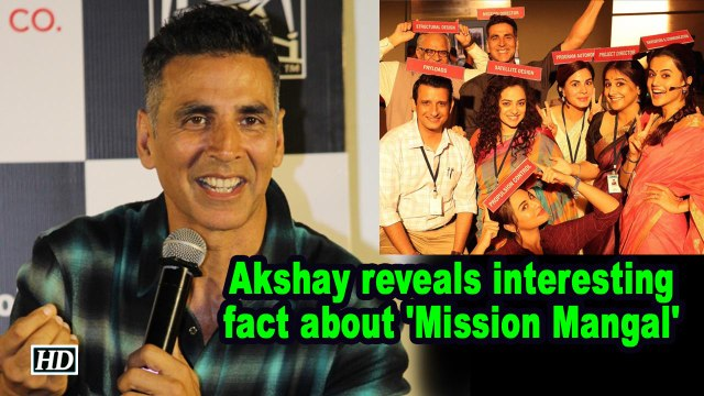 Akshay reveals interesting fact about 'Mission Mangal'