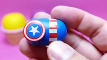 Play-Doh Ice Cream Toy Cups - Ernie, Tsum Tsum Captain America & Spiderman, Ernie, Snow Pink Pig