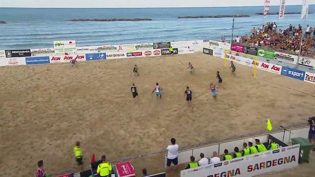 Viareggio forward Gori scores incredible goal in Beach Soccer Serie A