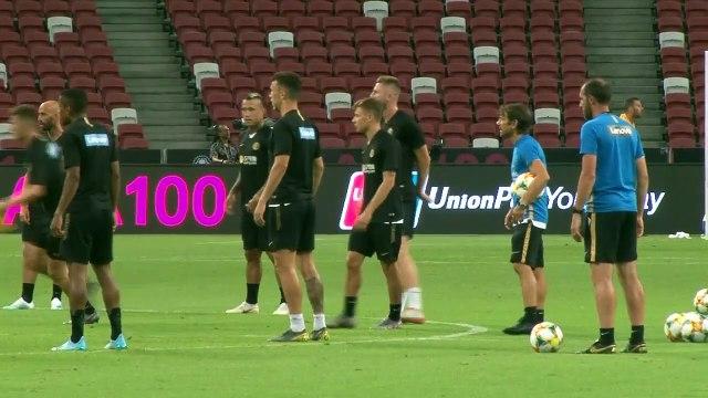 Inter Milan train in Singapore ahead of Manchester Utd ICC clash